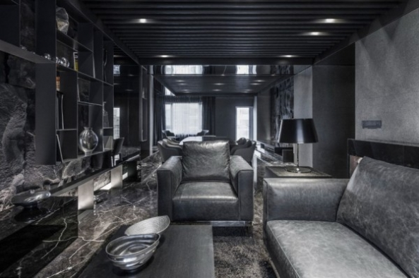 Brutal and Stunning Cave Apartment from Atelierii Studio