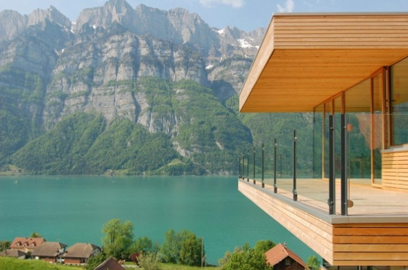 Walensee House Architectural Design – House on the Lake in Switzerland