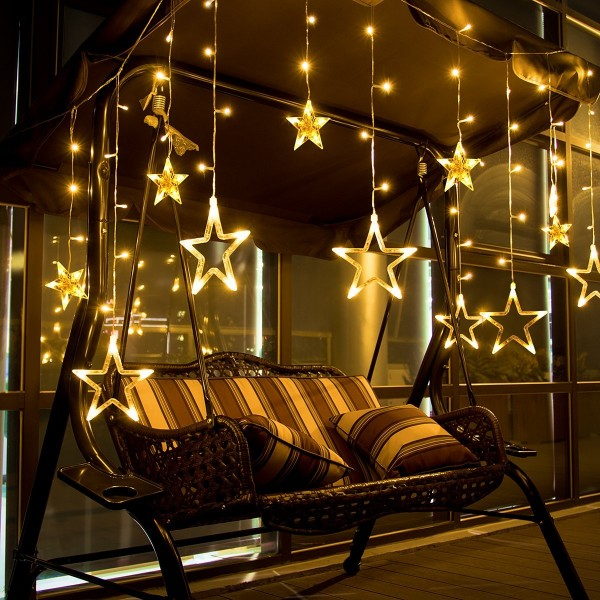 Star Curtain Lights 12 Stars 138 LEDs