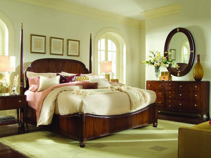 The bedroom design in light tones bedroom design homeid What color compliments brown furniture