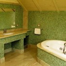 The Bathroom Design in Shades of Green