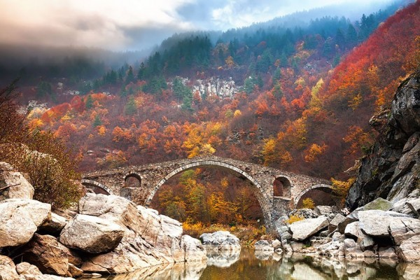 Devil's Arch Bridge in the Rhodope Mountains, Bulgaria