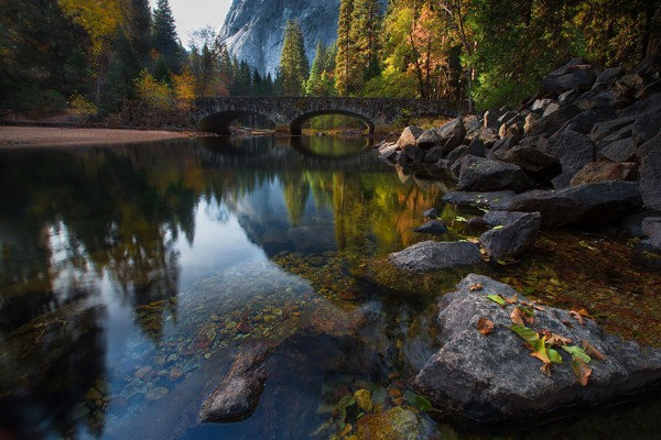 Ahwanee Bridge, Merced River, Yosemite, United States