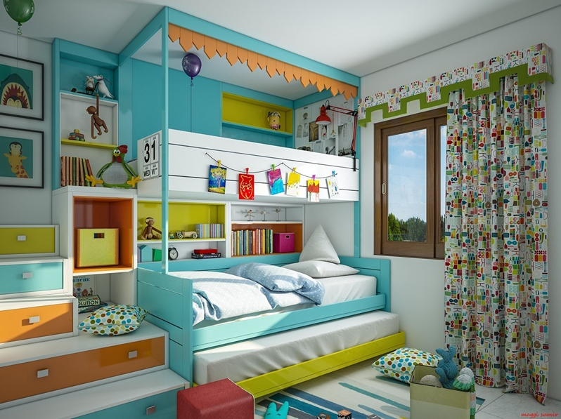 Colorful Kids Rooms Design Kids Room Ideas HomeID