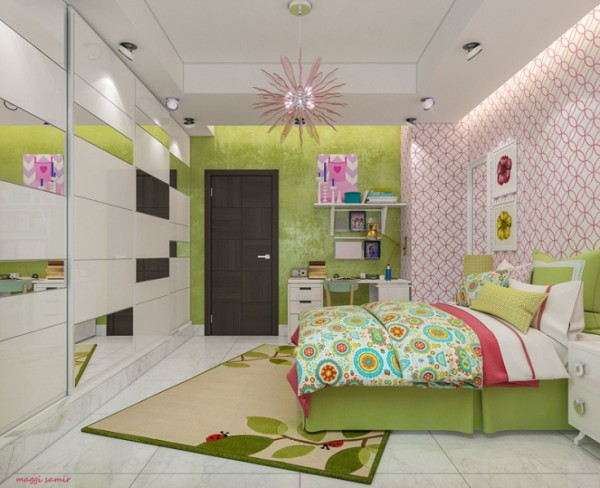 Delicate spring accent in the kids room