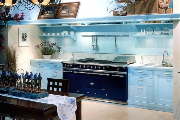 Kitchen interior into the blue 6