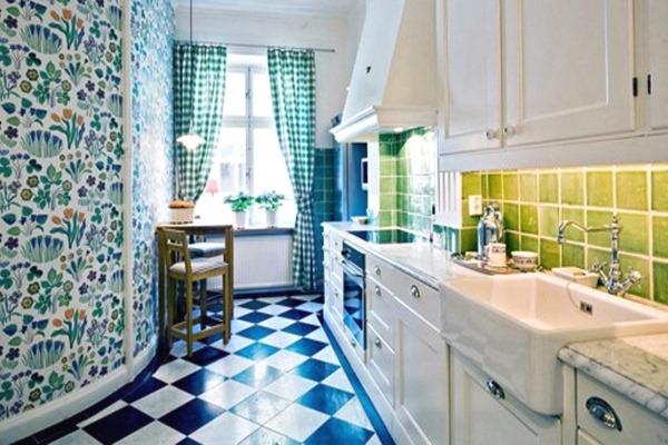 Green and Blue Kitchen Design Ideas