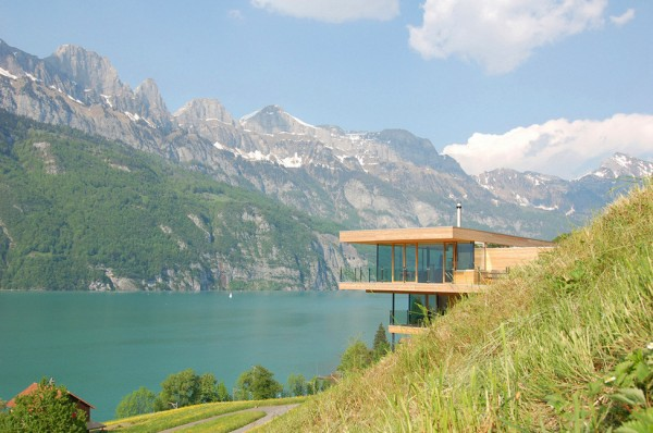 Walensee House Architectural Design - House on the Lake in Switzerland