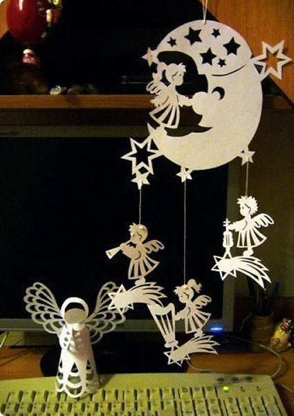 Little Angels - Paper Christmas Decorations