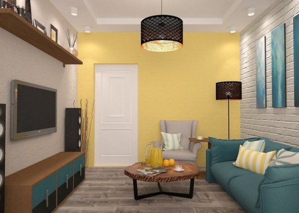 Sunny Interior Design for Small Apartment Image 3