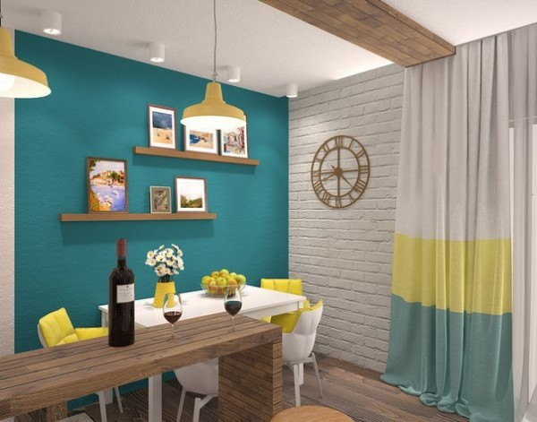 Sunny Interior Design for Small Apartment Image 6