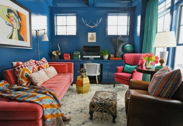 Dark Blue Color in Interior Design