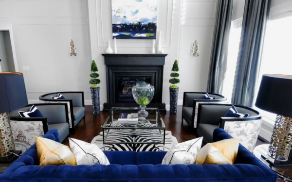 Dark Blue Color in Interior Design 2