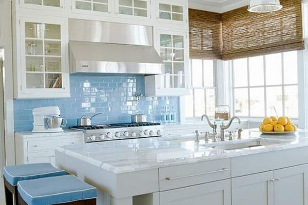 White and Blue Kitchen Designs 2