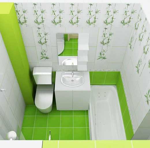 Green Bathrooms Design Idea