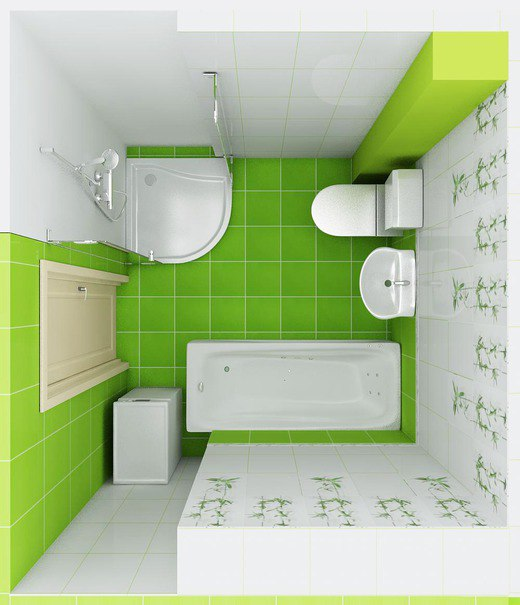 Green Bathrooms Design Idea 4