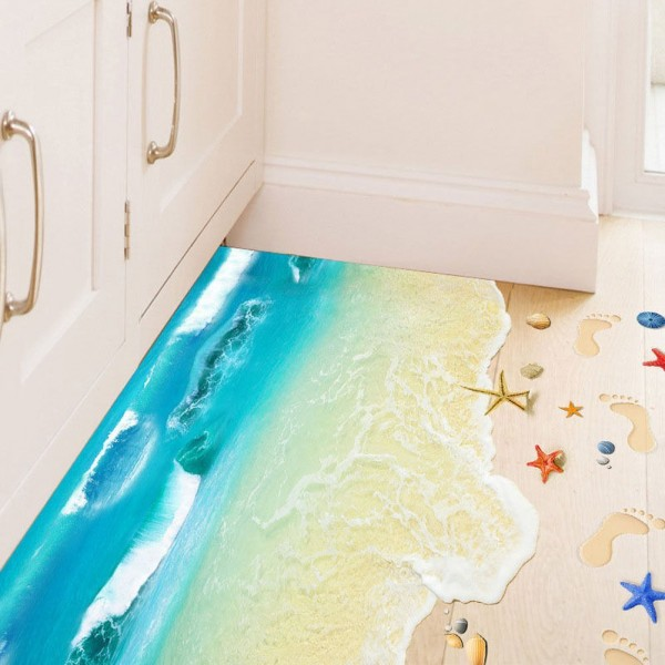 3D Ocean Floor Wall Sticker