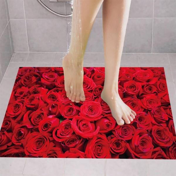 3D Rose Floor Wall Sticker
