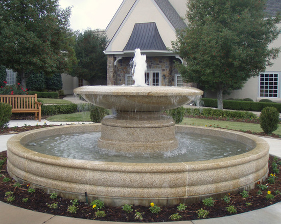 Classic fountain in the garden