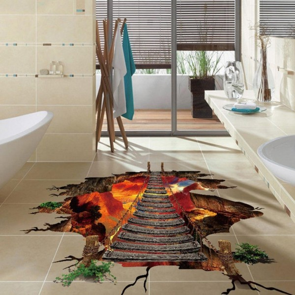 Forthery 3D Floor Wall Sticker