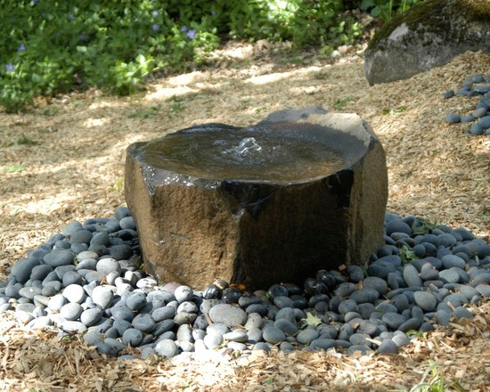 Fountain in the stone form