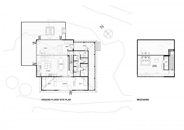 House for a Young Family in New Zealand Plan