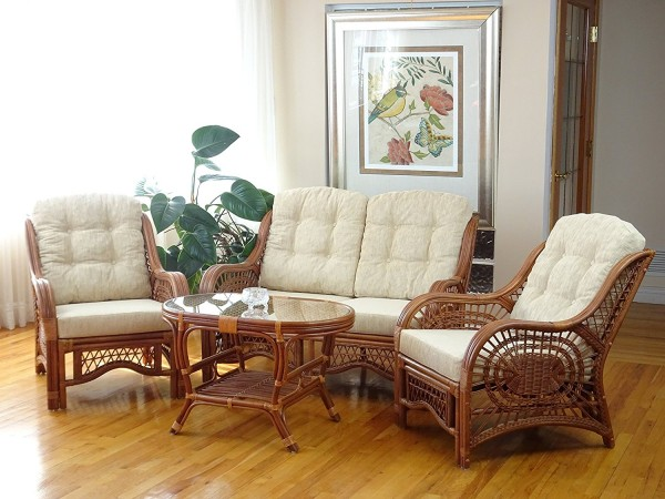 Malibu Rattan Wicker Living Room Set