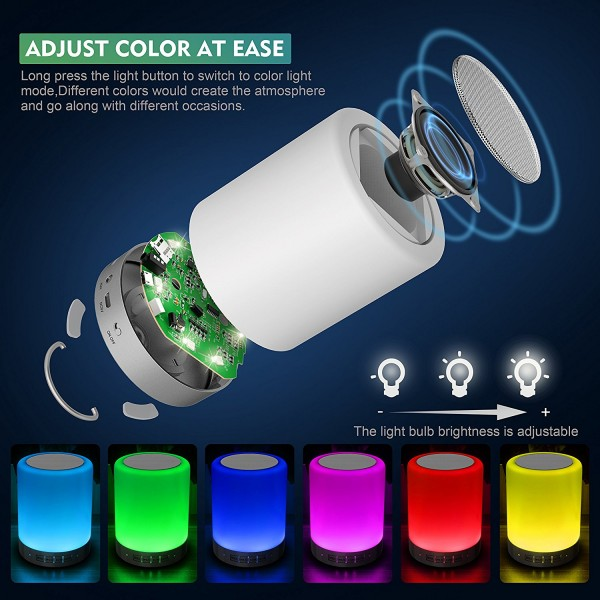 Touch Control Table Lamp with Wireless Bluetooth Speaker 2