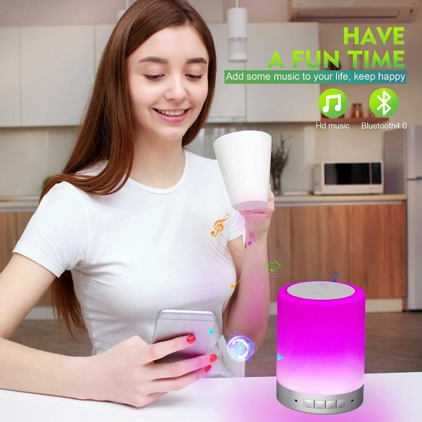Touch Control Table Lamp with Wireless Bluetooth Speaker 6