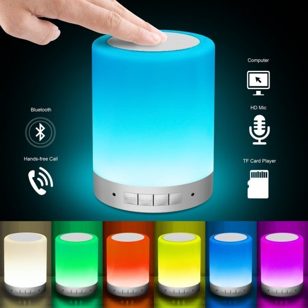 Touch Control Table Lamp with Wireless Bluetooth Speaker