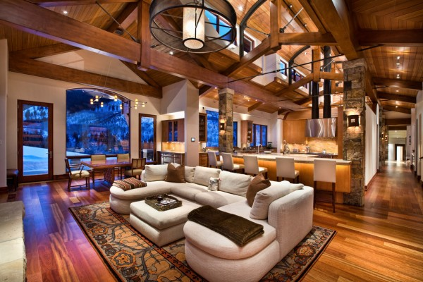 Comfortable interior in rustic style