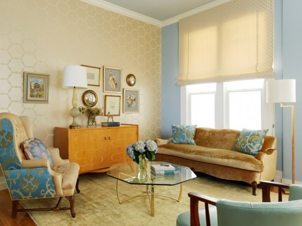 The Combination of Wallpaper in the Living Room Idea