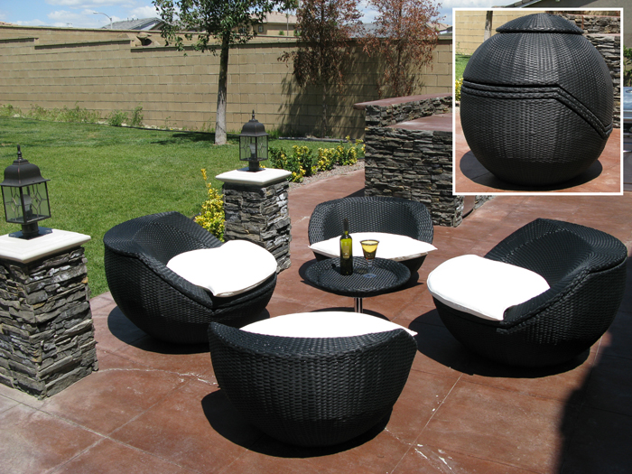 Modern Synthetic Rattan Furniture Homeid