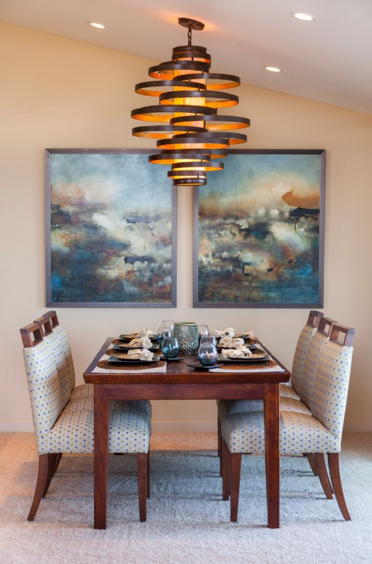 Living Dining Room Decorating Idea