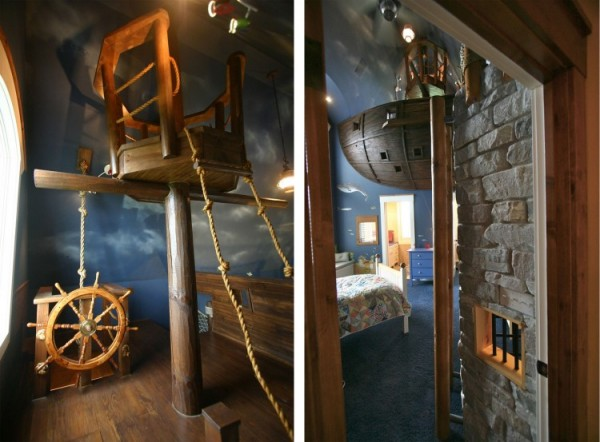 Pirate Ship Interior Design for 6-Year-Old Boy 3