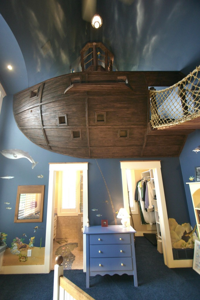 Pirate Ship Interior Design for 6-Year-Old Boy & Pirate Ship Interior Design for 6-Year-Old Boy - Kids Room Ideas ...